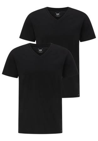 LEE TWIN PACK V NECK BLACK L62ECM01
